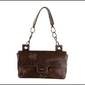 Excellent 💗💃RARE Chanel graffiti brown flap
